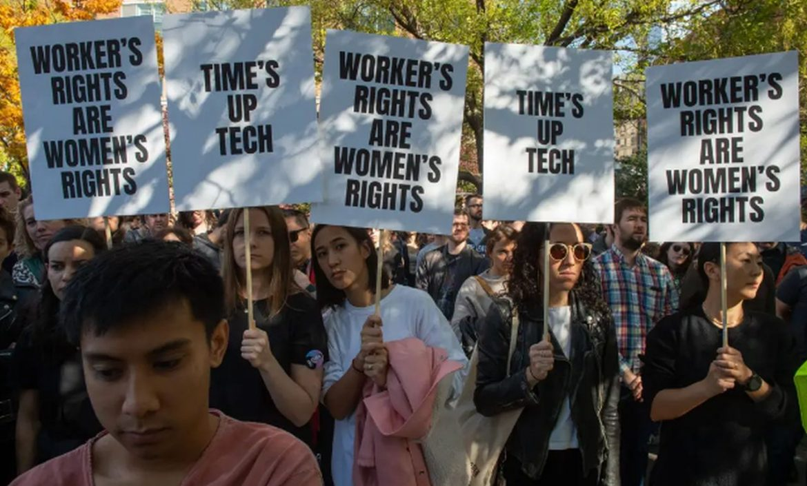 google gender pay protesters