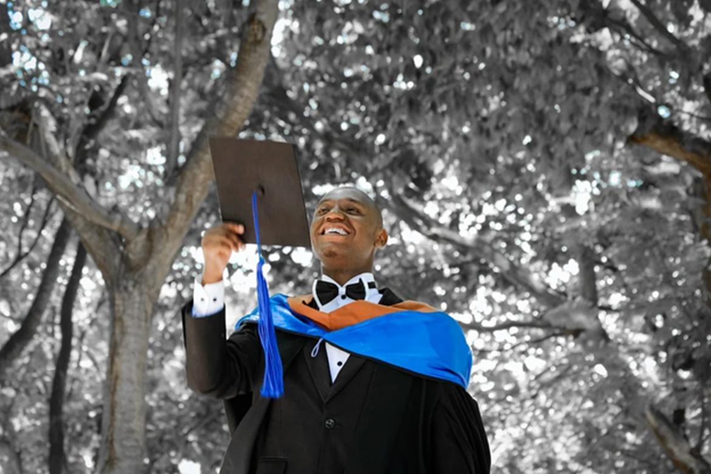 black college grad