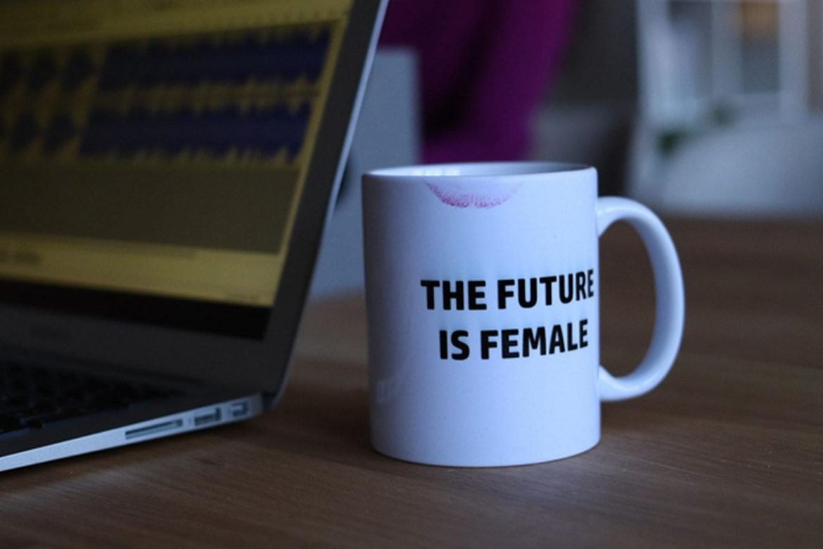 cup with future is female on it