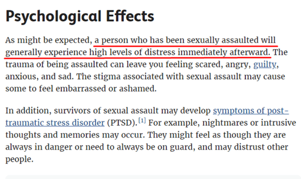 effects of sexual assault