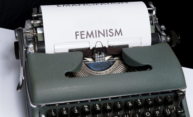 feminism on typewriter