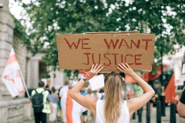we want justice sign