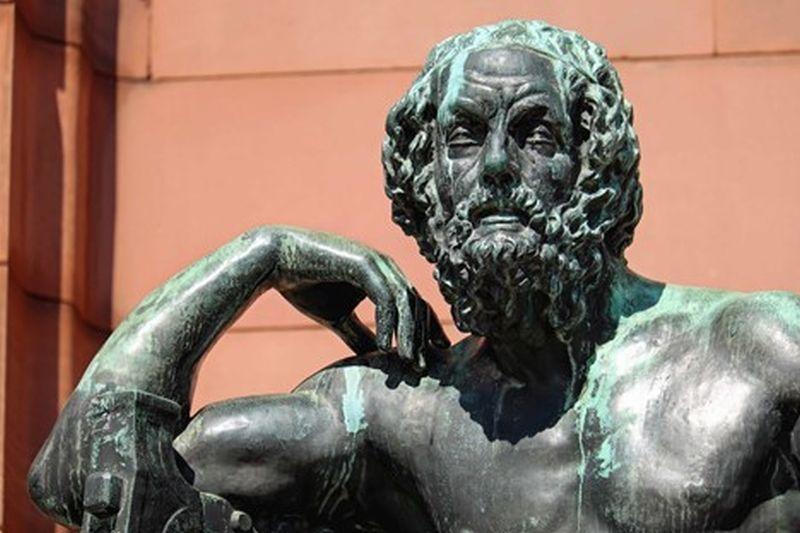 masculine statue