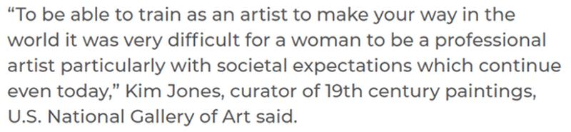 women in art quote