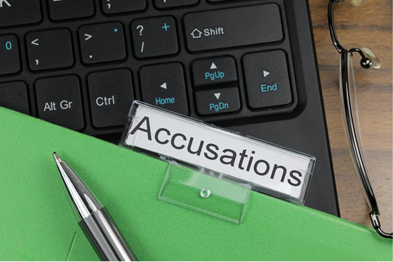 accusations on keyboard